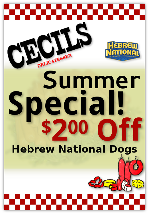 Hebrew National Hot Dogs $2 off!